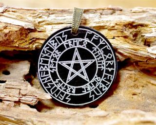 Amulett Anhänger Satorformel im Runenkreis neu